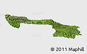 Satellite Panoramic Map of Xilin, single color outside