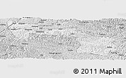 Silver Style Panoramic Map of Xilin