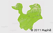Physical 3D Map of Yongning, cropped outside