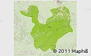Physical 3D Map of Yongning, lighten