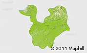 Physical 3D Map of Yongning, single color outside