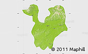 Physical Map of Yongning, single color outside