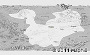 Gray Panoramic Map of Yongning