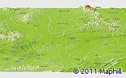 Physical Panoramic Map of Yongning