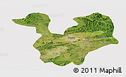 Satellite Panoramic Map of Yongning, cropped outside