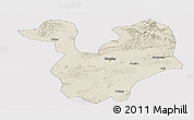 Shaded Relief Panoramic Map of Yongning, cropped outside