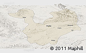 Shaded Relief Panoramic Map of Yongning, lighten