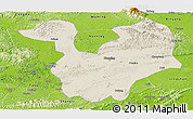 Shaded Relief Panoramic Map of Yongning, physical outside