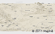 Shaded Relief Panoramic Map of Yongning