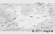 Silver Style Panoramic Map of Yongning