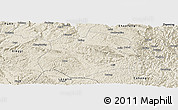 Shaded Relief Panoramic Map of Anlong
