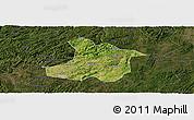 Satellite Panoramic Map of Anshun, darken