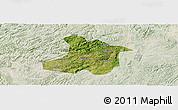 Satellite Panoramic Map of Anshun, lighten