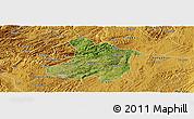 Satellite Panoramic Map of Anshun, physical outside
