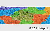 Satellite Panoramic Map of Anshun, political outside