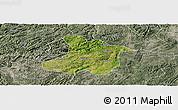 Satellite Panoramic Map of Anshun, semi-desaturated