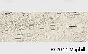 Shaded Relief Panoramic Map of Anshun