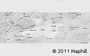 Silver Style Panoramic Map of Anshun