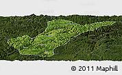 Satellite Panoramic Map of Bijie, darken