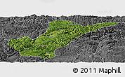 Satellite Panoramic Map of Bijie, desaturated
