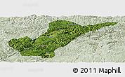Satellite Panoramic Map of Bijie, lighten