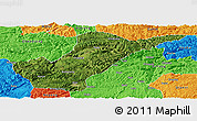 Satellite Panoramic Map of Bijie, political outside