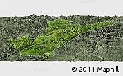 Satellite Panoramic Map of Bijie, semi-desaturated