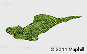 Satellite Panoramic Map of Bijie, single color outside
