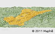 Savanna Style Panoramic Map of Bijie