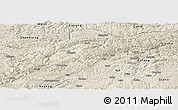 Shaded Relief Panoramic Map of Bijie
