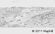 Silver Style Panoramic Map of Bijie
