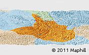 Political Panoramic Map of Ceheng, lighten