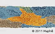 Political Panoramic Map of Ceheng, semi-desaturated