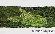 Satellite Panoramic Map of Ceheng, darken