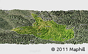 Satellite Panoramic Map of Ceheng, semi-desaturated