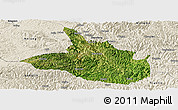 Satellite Panoramic Map of Ceheng, shaded relief outside