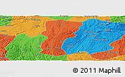 Political Panoramic Map of Changshun