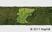 Satellite Panoramic Map of Changshun, darken
