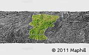 Satellite Panoramic Map of Changshun, desaturated