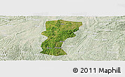 Satellite Panoramic Map of Changshun, lighten
