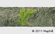 Satellite Panoramic Map of Changshun, semi-desaturated