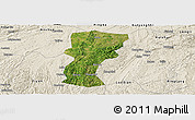 Satellite Panoramic Map of Changshun, shaded relief outside