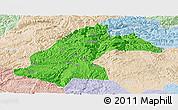Political Panoramic Map of Dafang, lighten