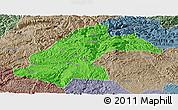 Political Panoramic Map of Dafang, semi-desaturated