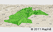 Political Panoramic Map of Dafang, shaded relief outside