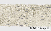 Shaded Relief Panoramic Map of Dafang