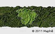 Satellite Panoramic Map of Daozhen, darken