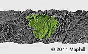 Satellite Panoramic Map of Daozhen, desaturated