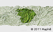 Satellite Panoramic Map of Daozhen, lighten