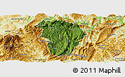Satellite Panoramic Map of Daozhen, physical outside